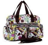 SODIAL(R) Women casual fashion print waterproof nylon bag shoulder messenger bag handbags women's size 31 * 22 * 11.5 cm Style 2