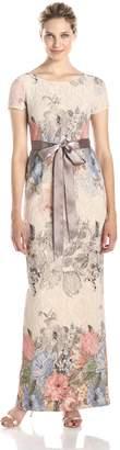 Adrianna Papell Women's Mateleasse Column Gown