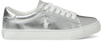 Ralph Lauren Easten Faux-Leather Trainer