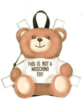 Moschino mini toy bear paper cut out backpack - women - Calf Leather - One Size