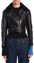 Calvin Klein Cropped Leather Jacket