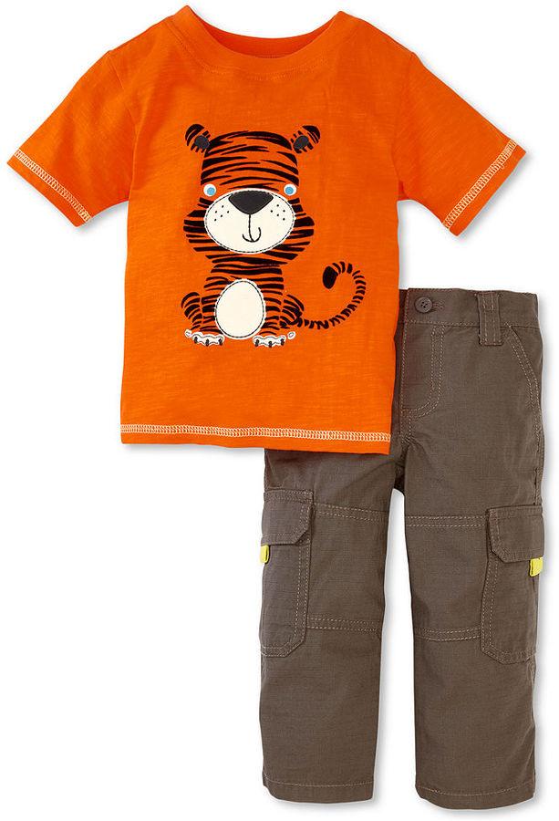 Nannette Baby Boys' 2-Piece Tiger Tee & Pants Set