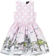 Love made Love Pink Polka Dot Paris Print Dress