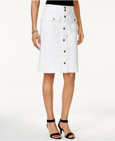 Style&Co. Style & Co Denim Button-Front Skirt, Created for Macy's
