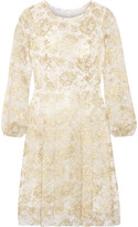 Oscar de la Renta Metallic lace dress
