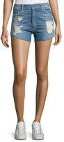 IRO Ally Distressed Cutoff Shorts, Blue