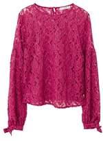 MANGO Metallic lace blouse