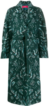F.R.S For Restless Sleepers Belted Floral Print Coat