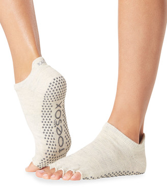 Toesox Solid Half-Toe Low-Rise Grip Socks