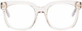 Tom Ford Transparent Blue Block Large Square Glasses