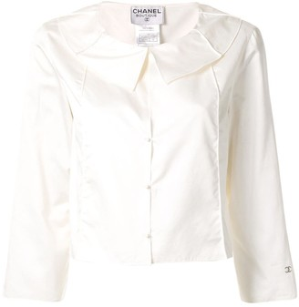 Chanel Pre Owned Peter Pan collared blouse