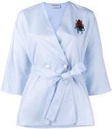 Osman scarab embroidered kimono - women - Polyester/Viscose - 12