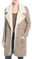 Dex Women's Faux Shearling Trim Notch Collar Jacket