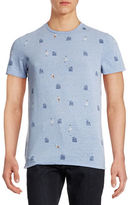 Ben Sherman Allover Beach Hut Print T-Shirt