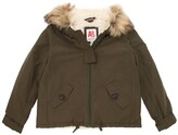 American Outfitters COTTON CANVAS JACKET W/ FAUX FUR
