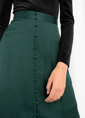 And other stories High Waisted Buttoned Midi Skirt
