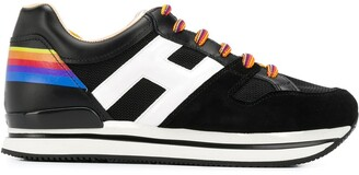 Hogan Rainbow Lace Up Sneakers