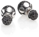 John Hardy Dot Black Sapphire & Sterling Silver Stud Earrings