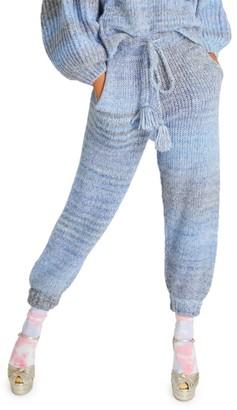 LoveShackFancy Bloosom Merino Wool Knit Joggers