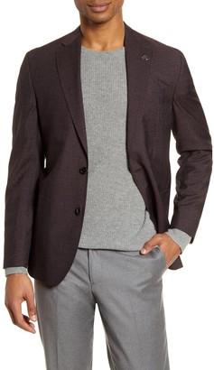 Ted Baker Kyle Trim Fit Check Wool Blend Sport Coat