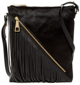 Sondra Roberts Genuine Calf Hair & Leather Fringe Crossbody