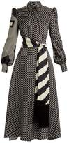 Hillier Bartley Graphic-print Silk-twill Dress