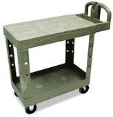 Rubbermaid Commercial Flat Shelf Utility 2-Shelf Cart