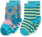 Sterntaler Baby Girls' Abs-Söckchen DP Sterne/Ringel Calf Socks,2