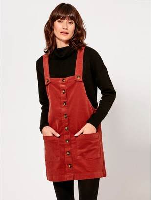 M&Co JDY cord pinafore dress