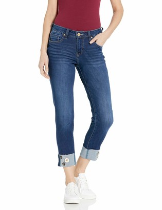Jag Jeans Women's Carter Girlfriend w/Embellished Cuff Jean