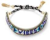 Rebecca Minkoff Good Vibes Only Seed Beaded Friendship Bracelet