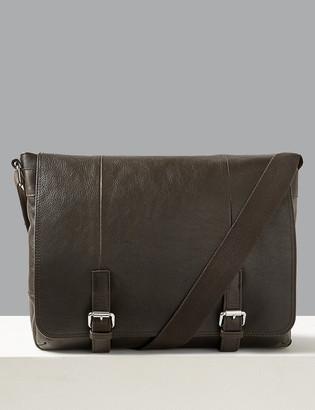 Marks and Spencer Premium Leather Messenger Bag