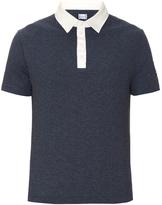 Moncler Gamme Bleu Contrast-collar cotton-piqué polo shirt