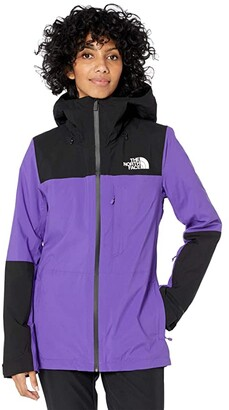The North Face Thermoball Eco Snow Triclimate Jacket (Peak Purple/TNF Black) Women's Clothing