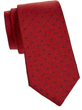 Isaia Men's Dotted Textured Silk Tie