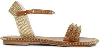 Christian Louboutin Cordorella spiked flat leather sandals