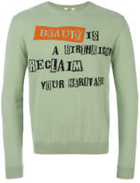 Valentino beauty Is Birthright Reclaim Your Heritage Crew Neck Sweater - Green - Size M