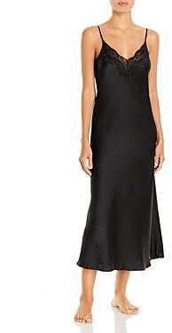 Ginia Silk Lace Trim Nightgown