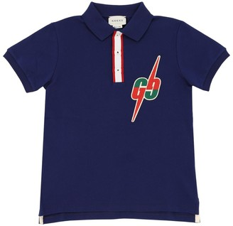 Gucci Embroidered Cotton Piquet Polo