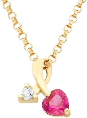 Junior Jewels Cubic Zirconia 14k Gold Heart & Arrow Pendant Necklace