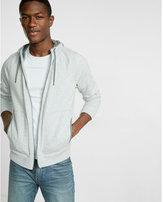 Express contrast fleece zip-up hoodie
