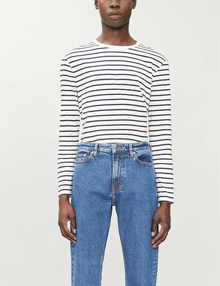Sandro Boat striped scoop-neck cotton-jersey T-shirt
