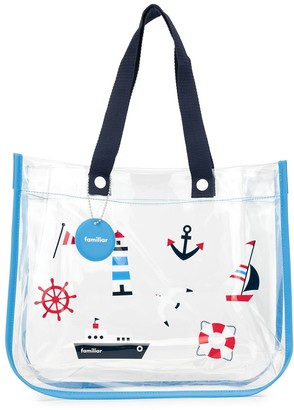 Familiar Printed Beach Bag
