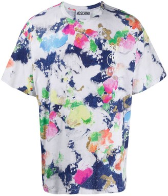 Moschino abstract paint print T-shirt