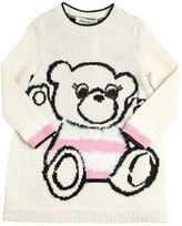 Simonetta Bear Intarsia Wool Blend Sweater Dress