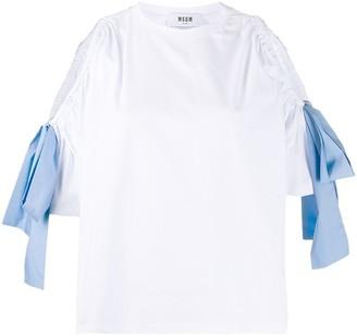 MSGM cold shoulder T-shirt