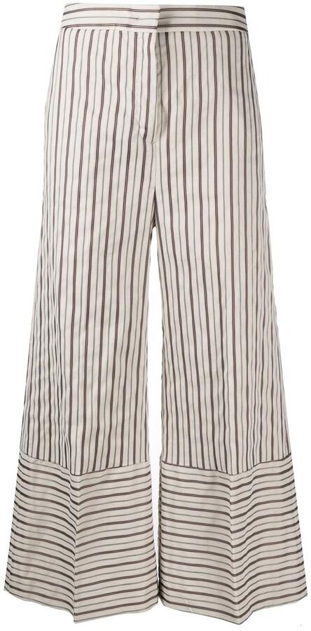 Pt01 Striped Wide-Leg Trousers