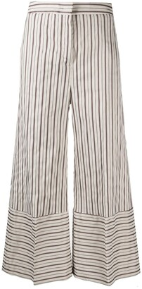 Pt01 Striped Wide-Leg Trousers