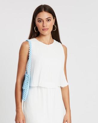 Missguided Pleated Sleeveless Smock Dress