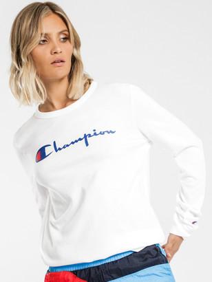 Champion The Boyfriend Long Sleeve T-Shirt in White